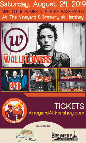 Merlot & Flash Gourd'n Rlease party with Wallflowers, Eve 6